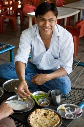 Tischsitten Indien