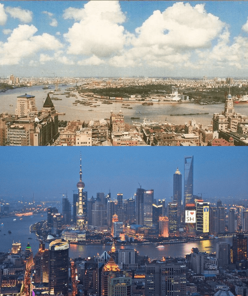 Eine Stadt im Wandel: Shanghai 1990 vs. Shanghai 2010